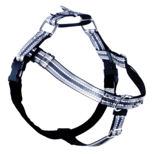 2 Hounds Design Black Reflective Dog Harness