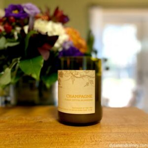 All-Natural Champagne Scented Candel Made in the USA