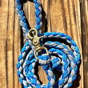 Blue & White Paracord Dog Leash