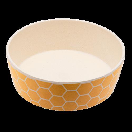bamboo dog bowl yellow