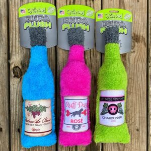 wine bottle dog toys